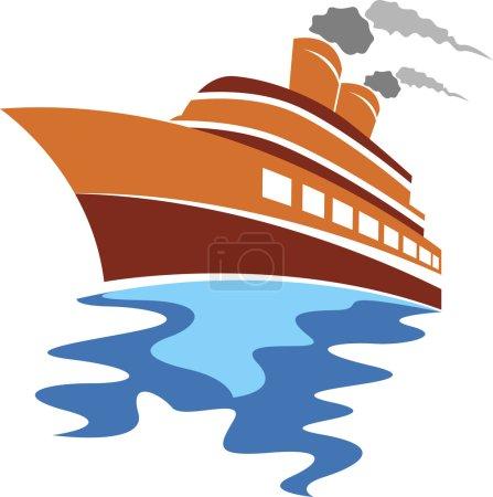 Passenger ship logo