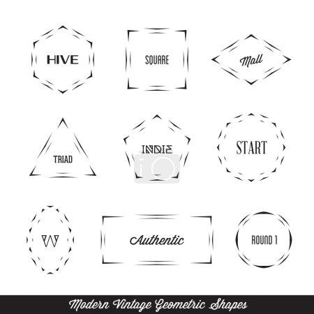 Vector modern vintage geometric shapes. Templates ...