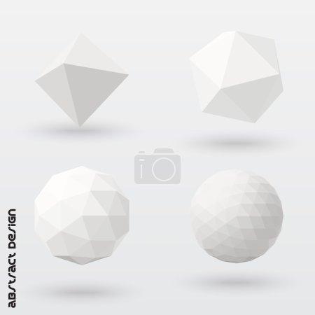 Illustration pour Solides géométriques. Conception vectorielle . - image libre de droit