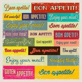 Retro typography banner