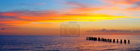 Florida sunset panorama