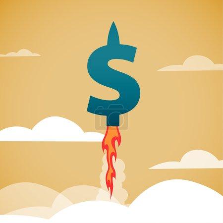 Rapid growth of dollar