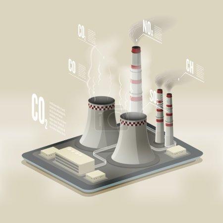 Plant polluting air