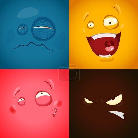 cute cartoon emotions
