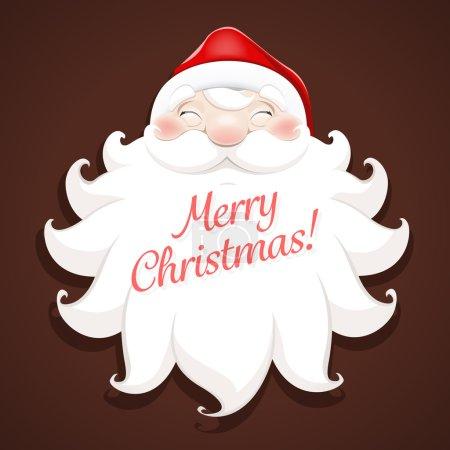 smiling face of Santa Claus