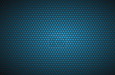 Illustration for Geometric polygons background, abstract blue metallic wallpaper, vector illustration - Royalty Free Image