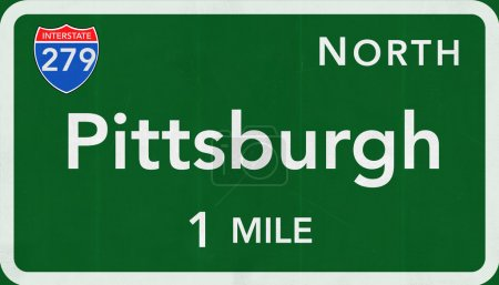 Pittsburgh Road Sign