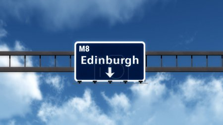 Photo for Edinburgh Highway Road Sign - Royalty Free Image