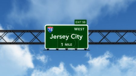 Jersey City Road Sign