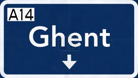 Ghent Road Sign