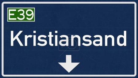 Kristiansand Road Sign