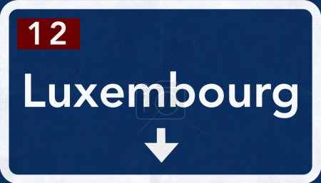 Luxembourg Road Sign