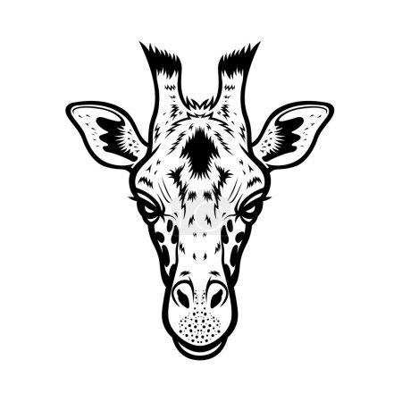 Giraffe Head BW