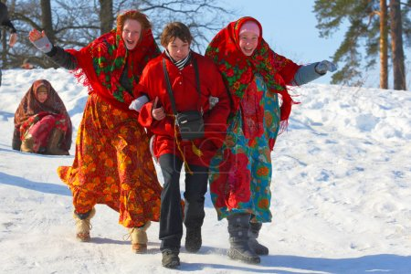 Traditional Russian festivities in the winter