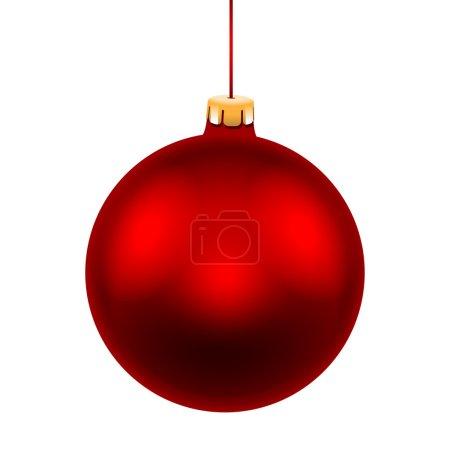Ilustración de Bolas de Navidad rojo aislado sobre fondo blanco. Ilustración de vector. - Imagen libre de derechos