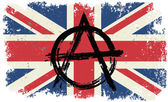 symbol anarchy on flag of Britain