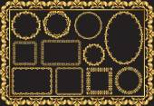 golden frames - clip art illustration