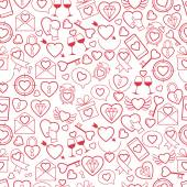 Heart for Valentines Day pattern vector illustration