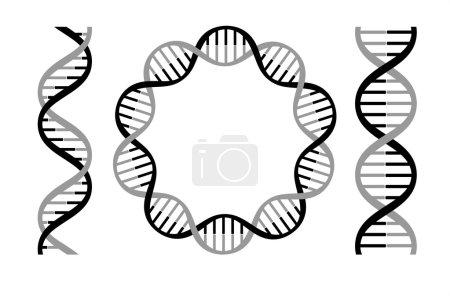 Illustration for Dna strands icons, vector illustration - Royalty Free Image