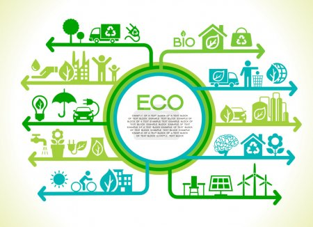 Illustration for Eco concept banner, vector illustration - Royalty Free Image