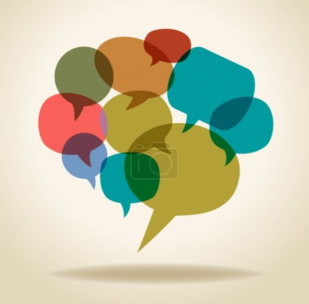 Illustration for Set icons of Speech Bubbles, the concept of communication of people through a global computer network - Royalty Free Image