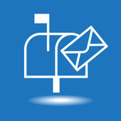 White mailbox icon