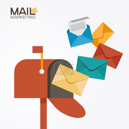 Mailbox and colored envelopes