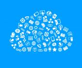 Cloud with Computing Service icons