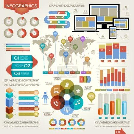 Global network infographics