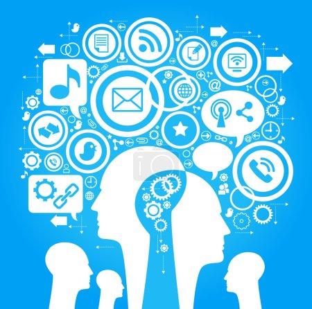 social network, communication concept