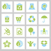 Vector Set eco icons for web and mobile