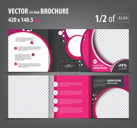 trifold bright pink booklet