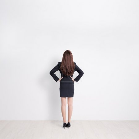 Back view of business woman