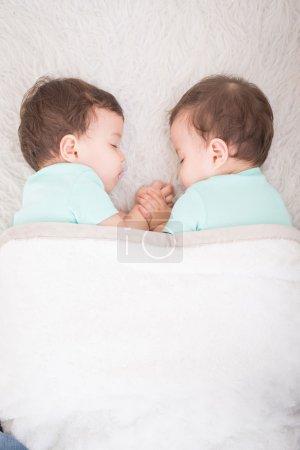 beautiful  twins sleeping