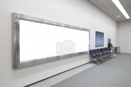 Blank Billboard in airport