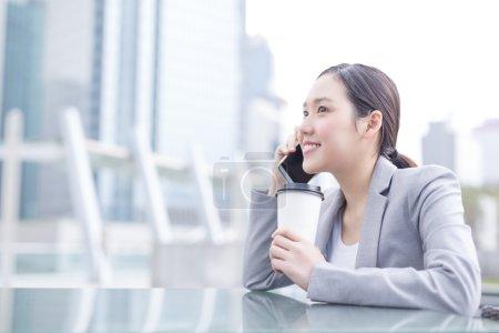business woman using  smart phone