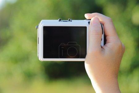 Closeup of camera