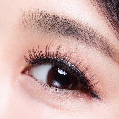 Beautiful eye with long eyelashes