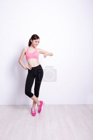 Sport Woman with health figure