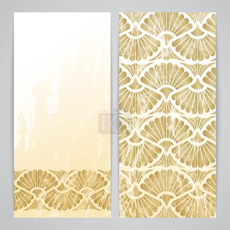 Flayers with arabesque decor