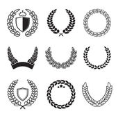 Silhouette laurel wreaths in different  shapes