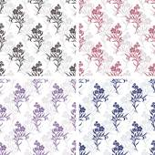 Vector seamless tiling patterns - romantic flowers For printing on fabric scrapbooking gift wrap