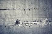 Elektrické dráty a instalace kabelů ve stěnách cementu na staveništi. měkké vliv na Foto