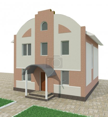 House in decorative render