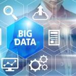 Big data concept man selecting and pressing Big Da...