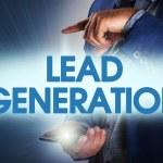 Businessman presses button lead generation on virt...