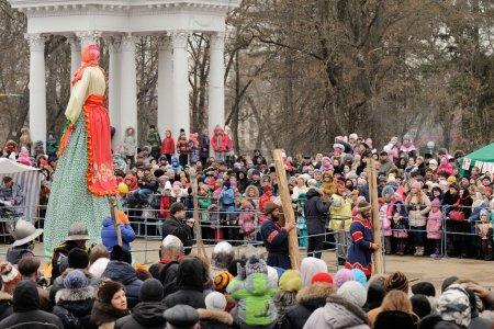 Orel, Russia, Maslenitsa Festival - 22 February, 2015: Kostroma