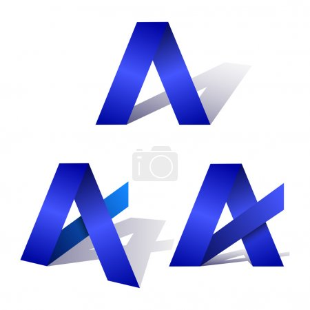 Blue letter of Logotype A