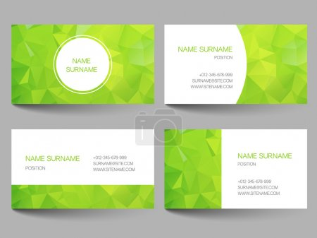 Illustration for Set of business cards with abstract geometrical triangles - Royalty Free Image