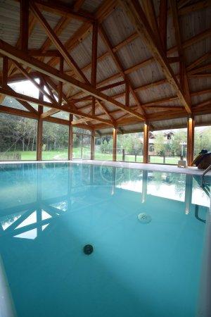 modern interior of swimming pool